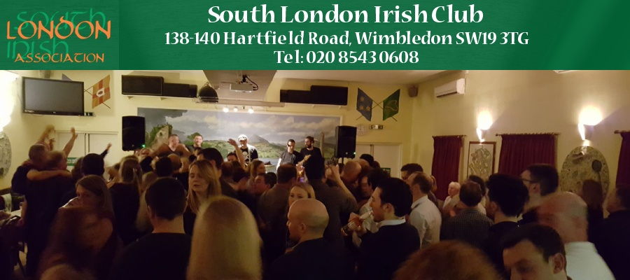 South London Irish Club, 138-140 Hartfield Road, Wimbledon, London SW19 3TG