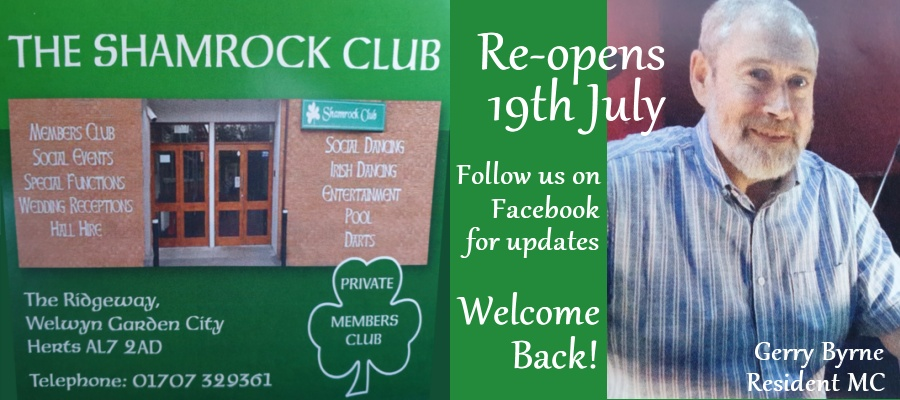 The Shamrock Club, The Ridgeway, Welwyn Garden City, Herts AL7 2AD